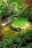 Japanse tuin in butcharttuinen Stock Afbeeldingen