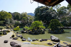 Japanse tuin in Daigoji-tempel, Kyoto Stock Foto