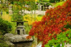 Japanse tuin in de Herfst in Seattle Royalty-vrije Stock Foto