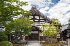 Japanse Tuin en Vijver Stock Foto