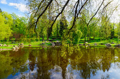 Japanse tuin in Kadriorg-park, Tallinn Royalty-vrije Stock Afbeelding