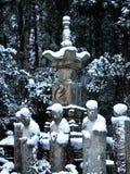 Japanse tuin in Kyoto, de winter Stock Fotografie