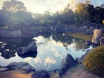 Japanse tuin in Kyoto stock fotografie