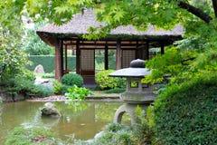 Japanse tuin in Montevideo Stock Afbeeldingen
