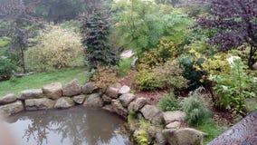 Japanse tuin in Polen Stock Afbeelding