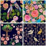 Japanse Tuin Vogels en bloemen Royalty-vrije Stock Fotografie