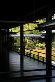 Japanse Tuin Zen in Kyoto Stock Foto's
