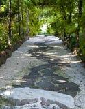 Japanse tuinweg Stock Afbeeldingen