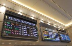 Japanse ultrasnelle trein Shinkansen Royalty-vrije Stock Fotografie