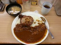 Japanse varkensvleeskerrie, Japans voedsel, Japan Stock Fotografie