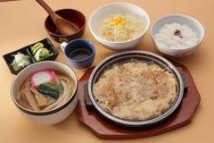 Japanse vastgestelde maaltijd Stock Afbeeldingen