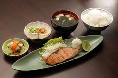 Japanse vastgestelde maaltijd Royalty-vrije Stock Afbeeldingen