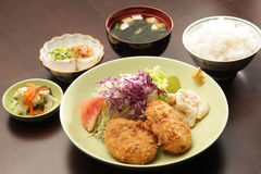 Japanse vastgestelde maaltijd Royalty-vrije Stock Foto