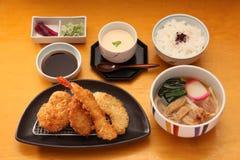 Japanse vastgestelde maaltijd Stock Foto