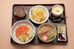 Japanse vastgestelde maaltijd Stock Foto's