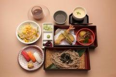 Japanse vastgestelde maaltijd Stock Afbeelding