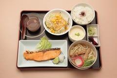 Japanse vastgestelde maaltijd Stock Fotografie