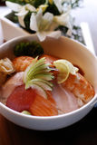 Japanse vissen gebaseerde schotel royalty-vrije stock foto's