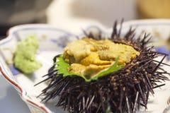 Japanse voedselsashimi met sushi stock fotografie