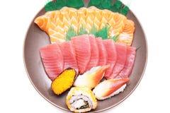 Japanse voedselsushi en Sashimi Stock Foto