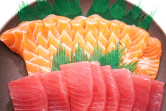 Japanse voedselsushi en Sashimi Royalty-vrije Stock Afbeeldingen