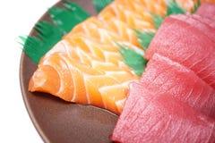 Japanse voedselsushi en Sashimi Royalty-vrije Stock Afbeelding