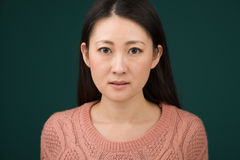 Japanse Vrouw Headshot Stock Foto