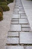 Japanse weg in een tuin Stock Foto