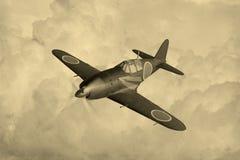 Japanse wereldoorlog 2 vechter royalty-vrije illustratie
