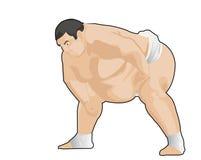 Japanse wresler van Sumo Stock Foto's