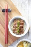 Japanse Yakiniku met rijst Royalty-vrije Stock Afbeeldingen