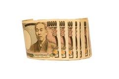 Japanse Yenbankbiljetten Stock Foto