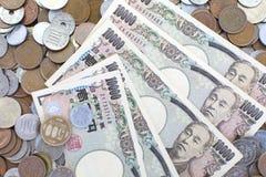 Japanse Yenbankbiljetten Royalty-vrije Stock Foto's