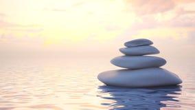 Japanse Zen-stenen Stock Afbeeldingen