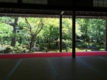Japanse zentuin, Kyoto in de zomer royalty-vrije stock foto's
