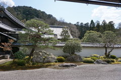 Japanse zentuin in Nanjenji-tempel, Kyoto Royalty-vrije Stock Afbeeldingen