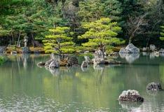 Japanses-Garten mit dem See Lizenzfreies Stockbild