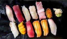 Japansk äta middag sund mat för sushi royaltyfria bilder