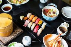 Japansk äta middag sund mat för sushi royaltyfri fotografi
