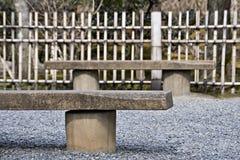 Japansk bänk Fotografering för Bildbyråer