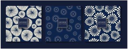Japansk blå modellbakgrund vektor illustrationer