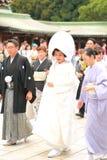 Japansk bröllopceremoni Fotografering för Bildbyråer