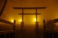 Japansk bro. Royaltyfri Fotografi