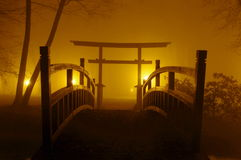 Japansk bro. Arkivbild