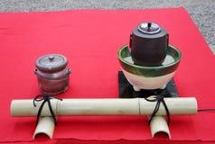 Japansk ceremoni för grönt te Royaltyfri Bild