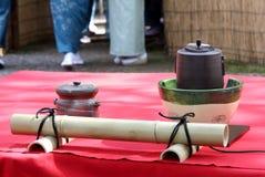 Japansk ceremoni för grönt te Fotografering för Bildbyråer