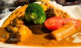 Japansk curry, kyoto stil Arkivbild