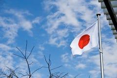 Japansk flagga Fotografering för Bildbyråer
