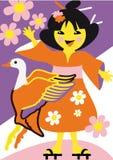 Japansk flicka Arkivfoton
