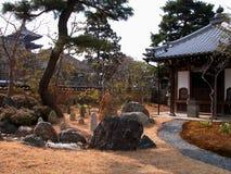 japansk gård royaltyfri foto